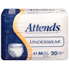 Attends Unisex Regular Absorbency Protective Underwear